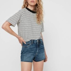 Allsaints Paula High-Rise Denim Shorts size 26 NWT